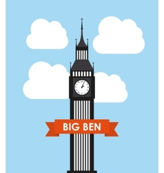 Big ben design vector