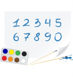 drawing digits vector image vector image
