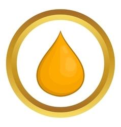 Drop of honey icon vector