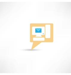Email on pc computer vector