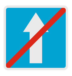 end of road icon flat style vector image vector image