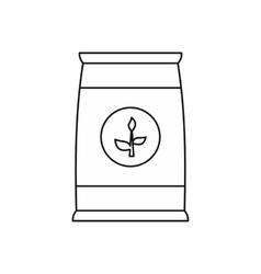 Fertilizer bag icon outline style vector