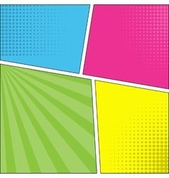 Four comic speech bubble background pop art vector image vector image