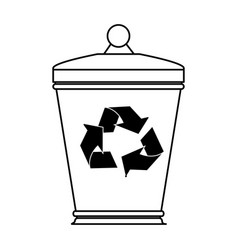 Garbage can eco freindly related icon image vector