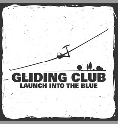 Gliding club retro badge vector