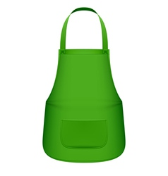Green kitchen apron vector image