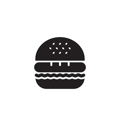 Hamburger Icon Black vector image