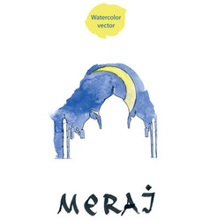 islamic religious holiday abstract for meraj vector image