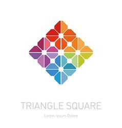 Modern rhombus logotype design element with vector