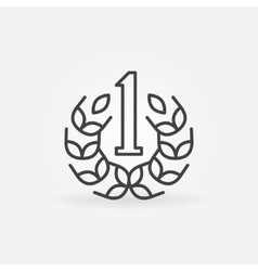 Number One line icon vector image