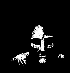 Old man in shadows vector