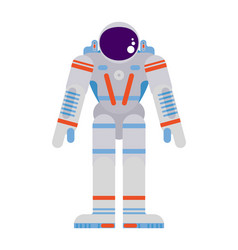 Pioneering astronaut in a spacesuit on a white vector