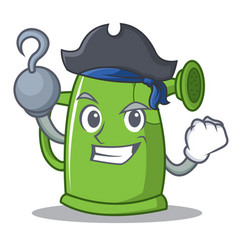 Pirate watering can character cartoon vector