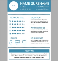 Resume template for worker vector