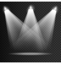 Scene illumination transparent effects on a plaid vector image vector image