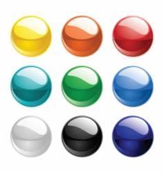 shiny sphere vector image vector image