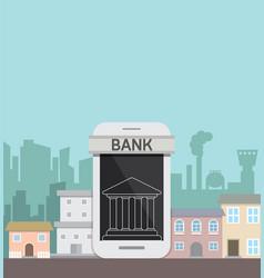 smartphone concept banking online service vector image