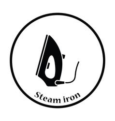 Steam iron icon vector image vector image