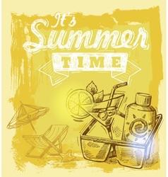 summer symbols vector image vector image