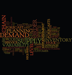 The key elements for a best practice supply chain vector