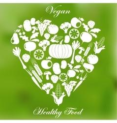 Vegan healthy organic food vector