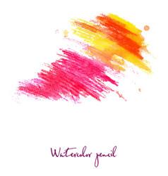 watercolor pencil in war vector image