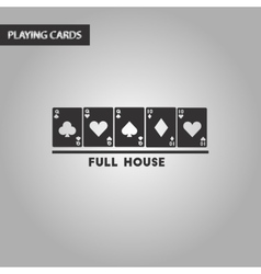 black and white style full house vector image