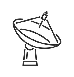 Radar telescope line icon vector