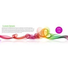 Spectrum wave color abstract wavy vector