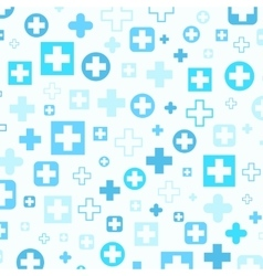 Medical background blue crosses vector