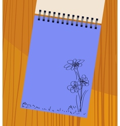 Notebook with flowers vector