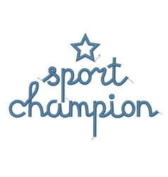 Sport champion decoration vector