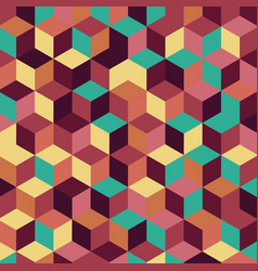 Retro pattern background vector
