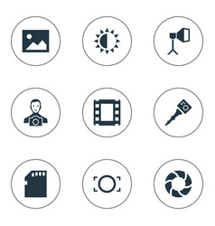Set of simple photographer vector