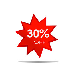 30 off sale discount banner special offer vector image