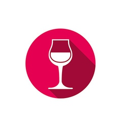 Winery theme classic wine goblet isolated on white vector image