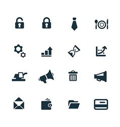 B2b icons set vector