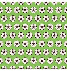 Flat seamless sport and recreation pattern soccer vector