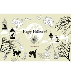 Cover halloween vector