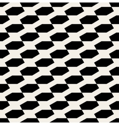 Seamless black and white diagonal pattern vector