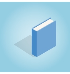Blue book icon isometric 3d style vector