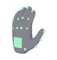 Electronic glove icon cartoon style vector