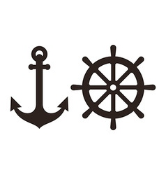 Anchor and rudder sign vector