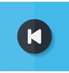 Back track web iconmedia player flat design vector