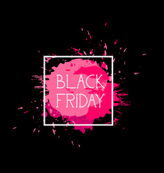 black friday sign holiday sale icon over pink vector image