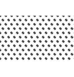 Black gear pattern on white background vector