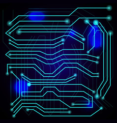 blue background with high tech circuit board vector image vector image