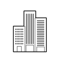 building construction architecture for apartment vector image
