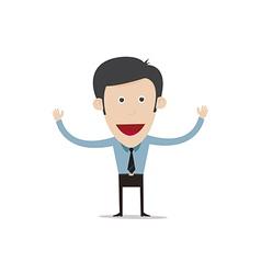 cartoon business person vector image vector image