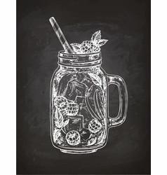 Chalk sketch of lemonade vector